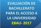Información de la EBAU por materias